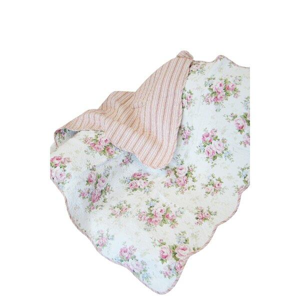 Rose Perfume Spring Rose Cotton Throw Blanket by Textiles Plus Inc.