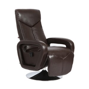 Palermo Manual Swivel Recliner with Ottoman by Rissanti