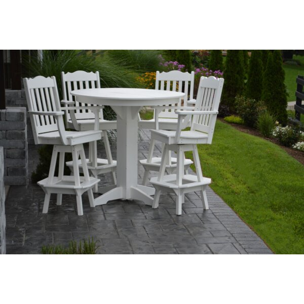 Nettie 5 Piece Bar Height Dining Set by Red Barrel Studio