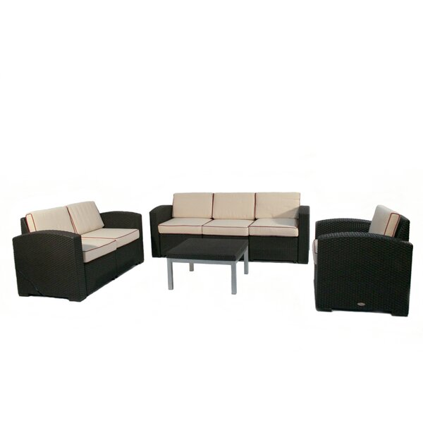 Loggins 4 Piece Sofa Set with Cushions Brayden Studio BRYS1413