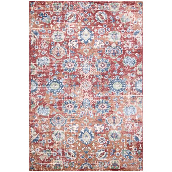 Eden Red Area Rug by Charlton Home