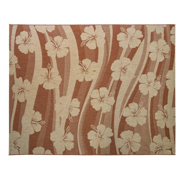 One-of-a-Kind Swinford Blooming Sand Indoor/Outdoor Area Rug by Bay Isle Home
