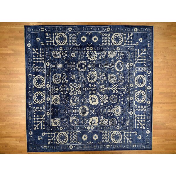 One-of-a-Kind Beason Hand-Knotted Blue 14'2 x 14'3 Area Rug