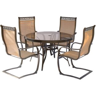 Bucci 5 Piece Outdoor Dinning Set ByFleur De Lis Living