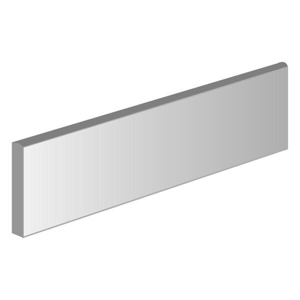 Surface 3 x 12 Porcelain Bullnose Tile in Plain Gray by Emser Tile