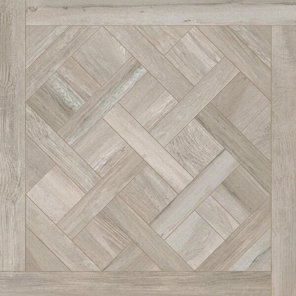 Travel Cassettone Décor 24 x 24 Porcelain Wood Look Tile in East Gray by Travis Tile Sales
