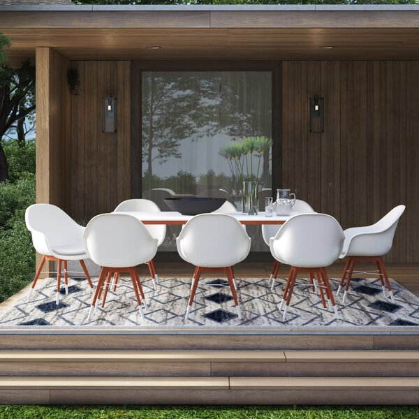 Colyer 9 Piece Dining Set with Cushions by Mercury Row