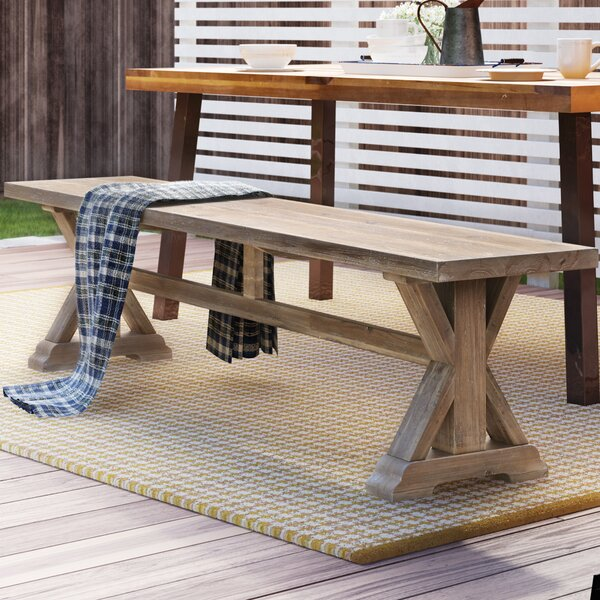 Rocky Ford Wood Bench by August Grove