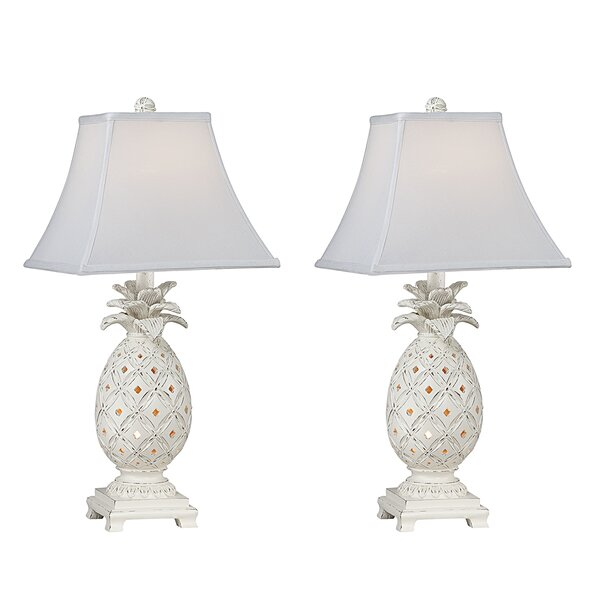 Nate Pineapple 23 Table Lamp (Set of 2) by Highland Dunes