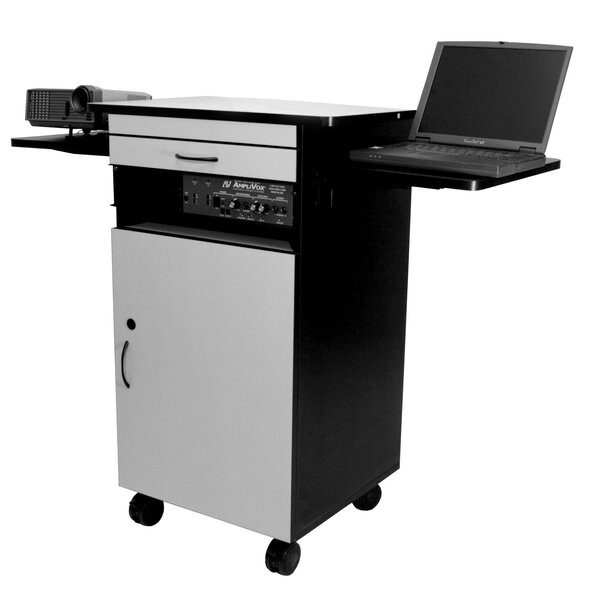 Gray/Black Multimedia Work Station by AmpliVox Sound Systems
