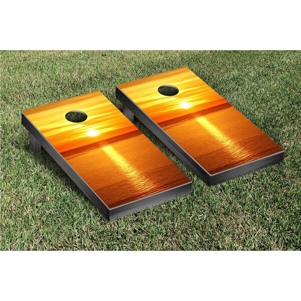Ocean Sunset Version 2 Cornhole Game Set by Victory Tailgate