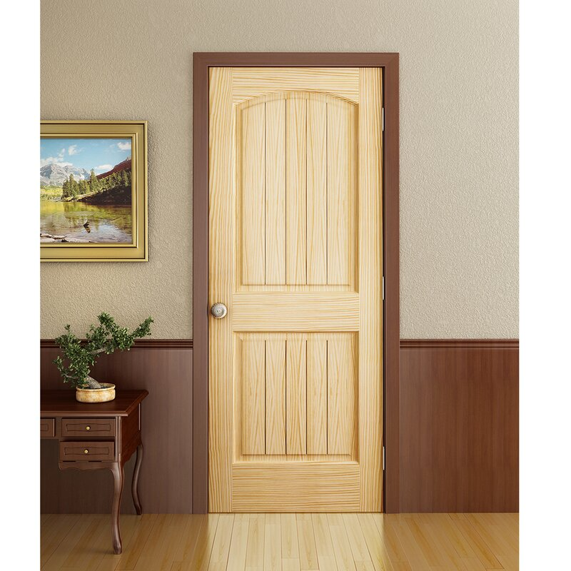 Colonial 2 Panel Solid Pine Slab Interior Door & KIBY Colonial 2 Panel Solid Pine Slab Interior Door \u0026 Reviews | Wayfair