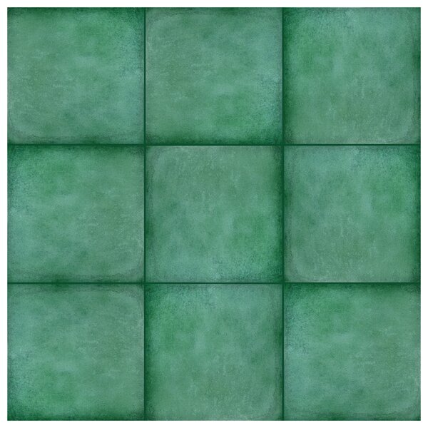Symbals 14.13 x 14.13 Porcelain Leather Look Tile in Teal by EliteTile