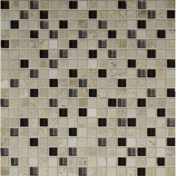 Crystallized 0.625'' x 0.625'' Glass Mosaic Tile in Café Noce by MSI