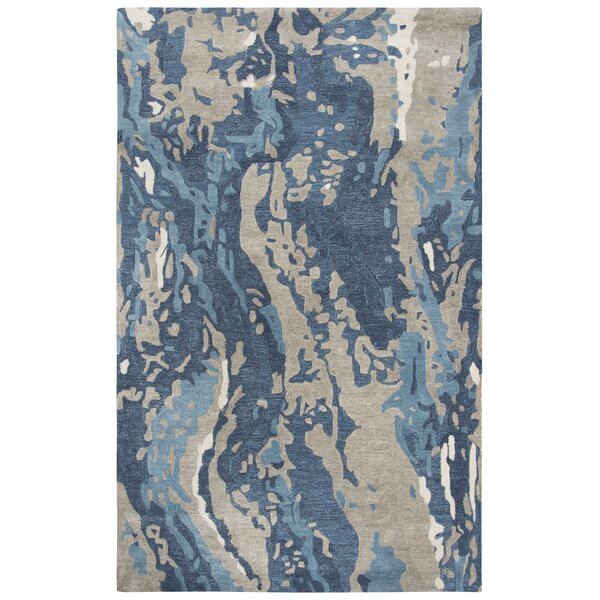 Gomes Hand-Tufted Wool Blue Area Rug by Williston Forge
