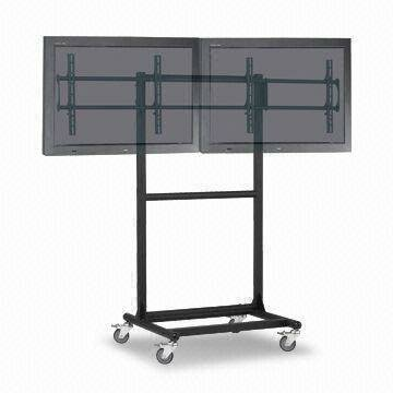 Ergonomic Mobile Dual TV Cart by Cotytech