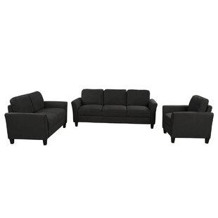 Jonna 3 Piece Standard Living Room Set by Red Barrel Studio®