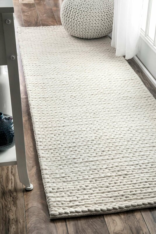 off white area rug. Arviso Hand-Woven Wool Off White Area Rug T