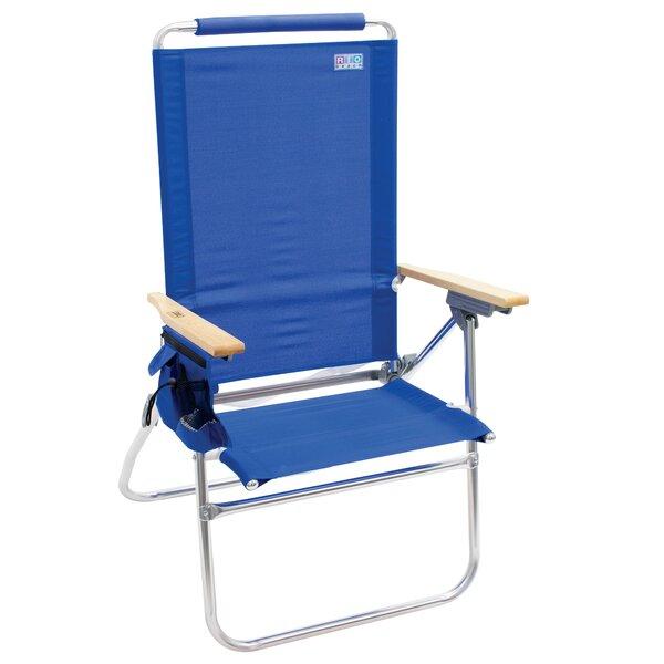 Hi-Boy Tall Back Folding Beach Chair by Rio Brands Rio Brands