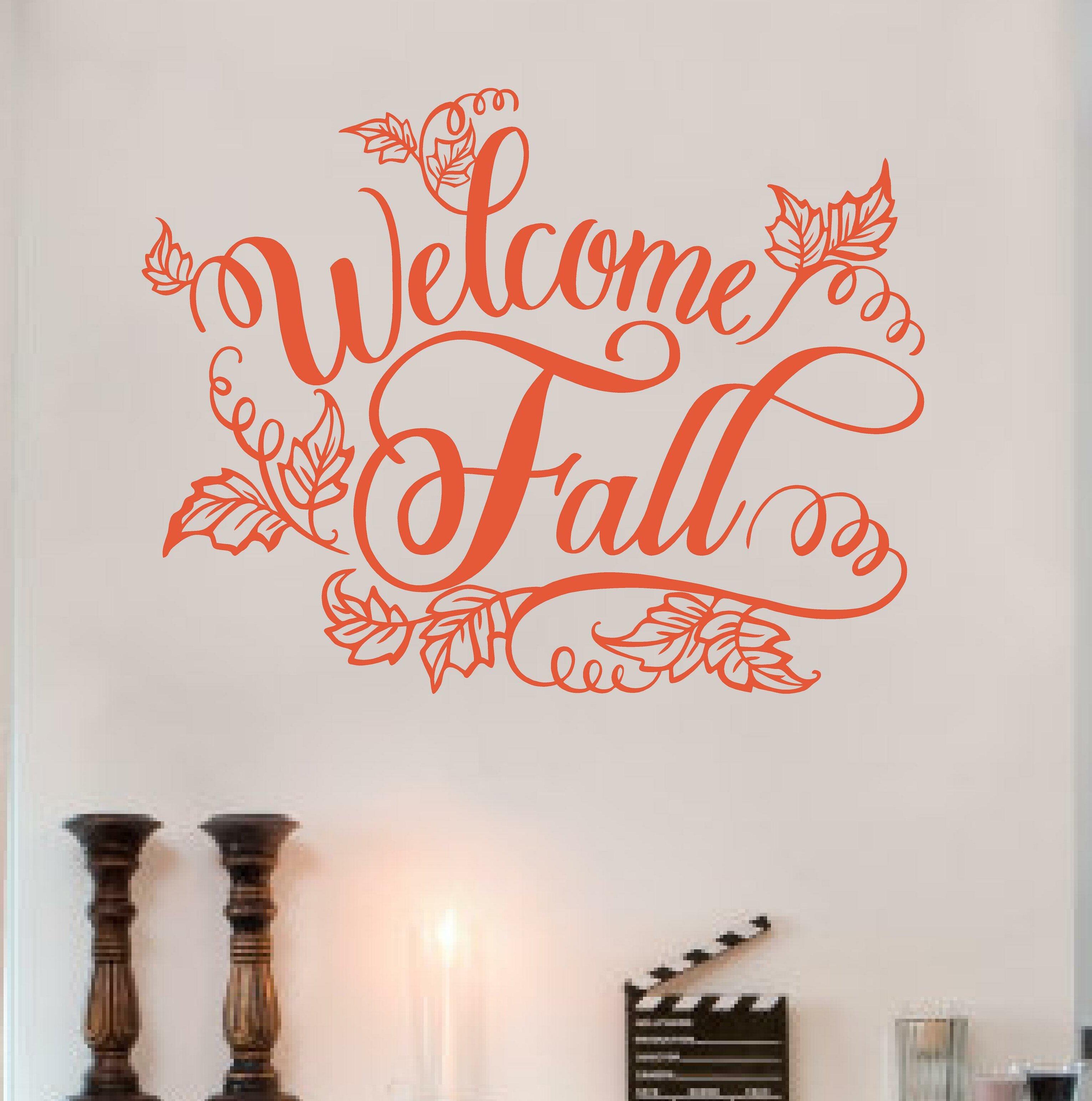 Enchantingly Elegant Welcome Fall Wall Decal Wayfair