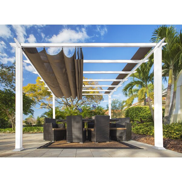 Vail 11.5 Ft. W x 16.5 Ft. D Metal Pergola by Paragon-Outdoor
