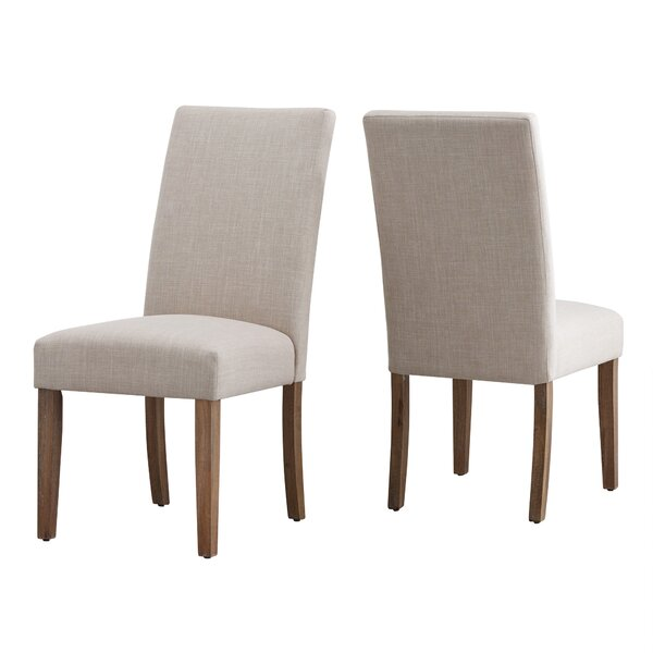 Geraldina Linen Upholstered Parson Chair In Beige (Set Of 2) By Birch Lane™ Heritage