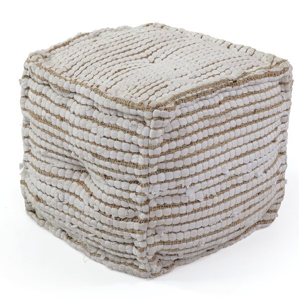 Mccollister Square Pouf by Bungalow Rose