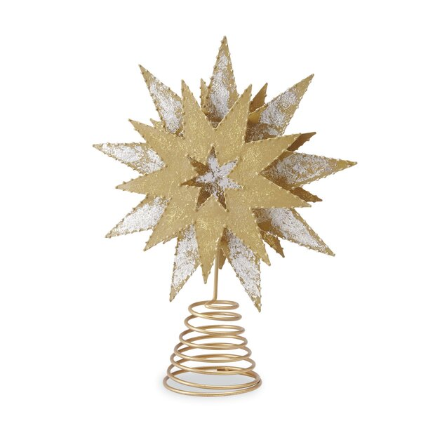 Metallic Star Tree Topper by Mud Pie™