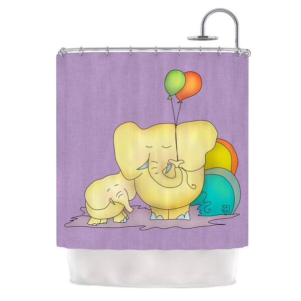 Party Time by Carina Povarchik Shower Curtain by East Urban Home