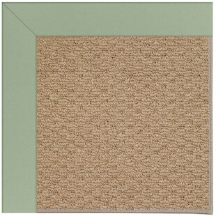 Lisle Machine Tufted Light Jade/Brown Indoor/Outdoor Area Rug By Longshore Tides