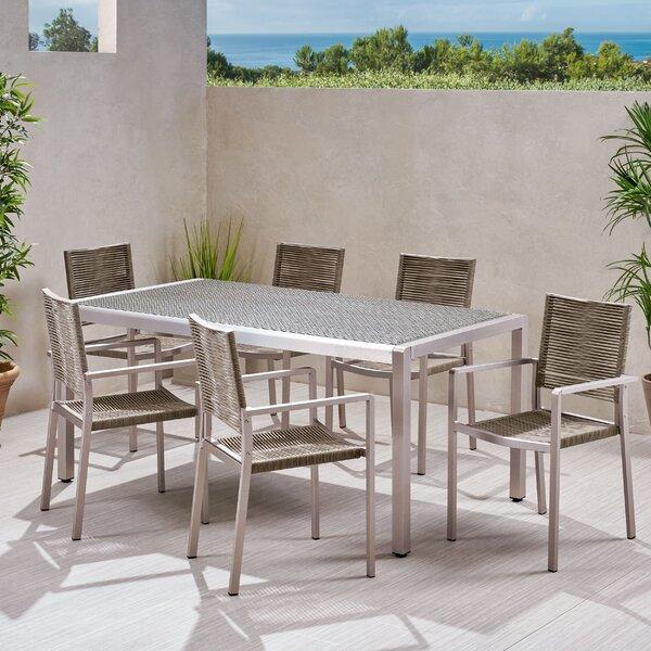 Parquet Outdoor 7 Piece Dining Set