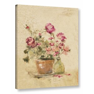 'Rose Panel II' Painting Print on Wrapped Canvas by Ophelia & Co.
