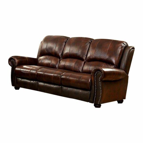Gantz Leather Sofa By Red Barrel Studio