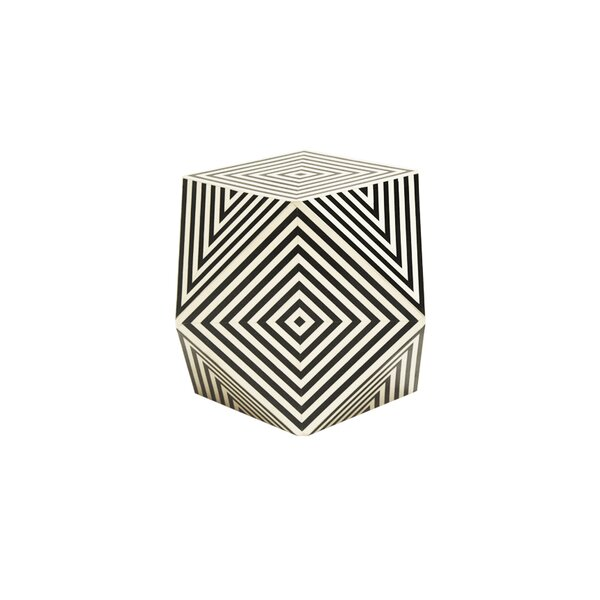 Geometric Bone End Table by Worlds Away