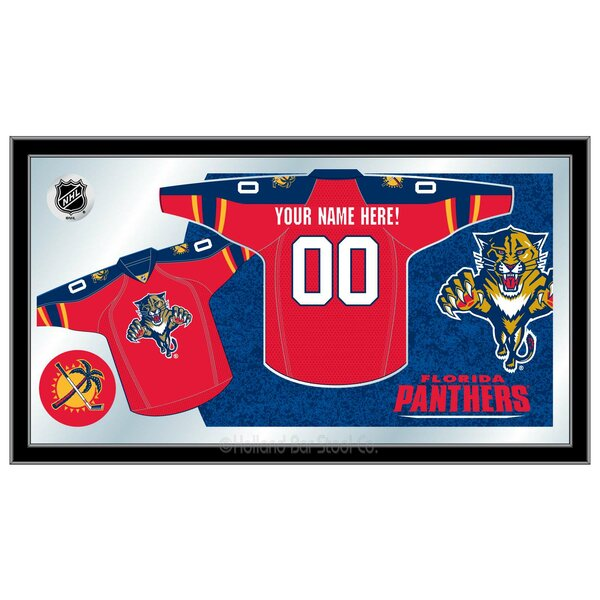 NHL Jersey Mirror Framed Graphic Art by Holland Bar Stool