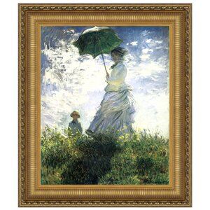 Woman with a Parasol, 1875 by Claude Monet Framed Painting Print by Design Toscano