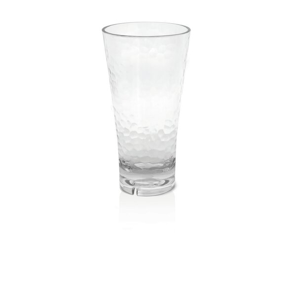 Louanne Hammered Highball Glass 18 oz. Plastic (Set of 4) by Mint Pantry