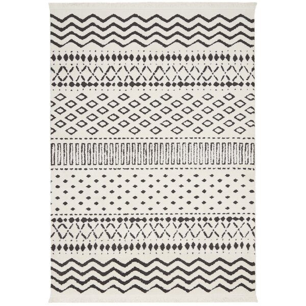 Penwell White Area Rug by Bungalow Rose