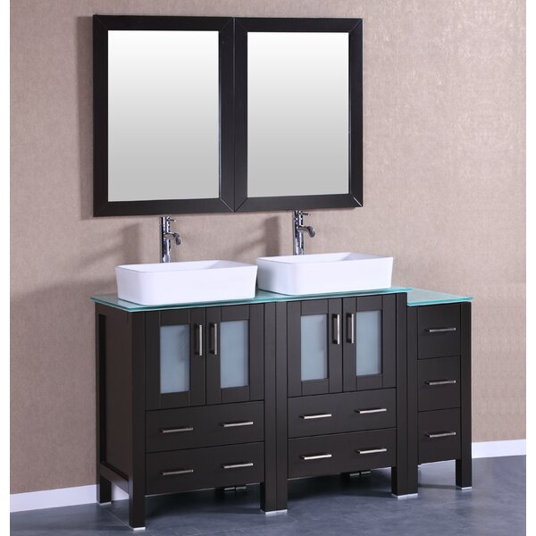 Roosevelt 60 Double Bathroom Vanity Set with Mirror by Bosconi
