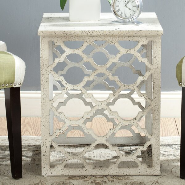 Lonny End Table in Distressed Grey by Safavieh