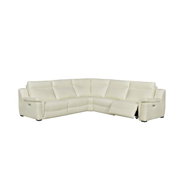Best #1 Loaiza Leather Reclining Sectional By Latitude Run New Design