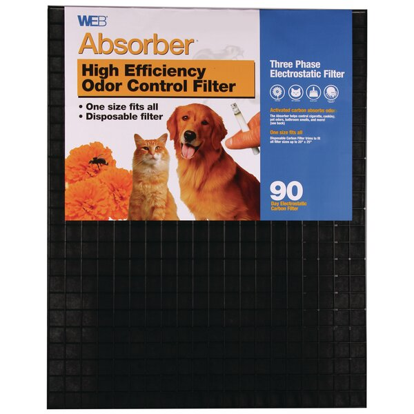 Absorber Electrostatic Carbon Adjustable Air Filter by WEB Products