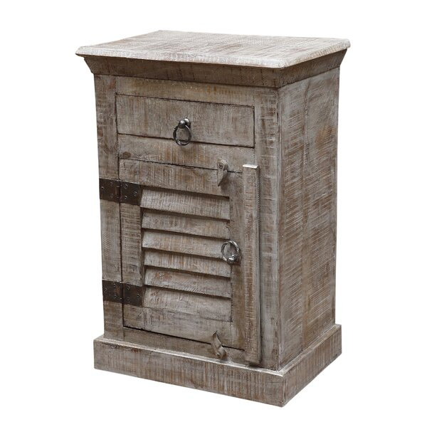 Drummond 1 Drawer Nightstand by Rosecliff Heights