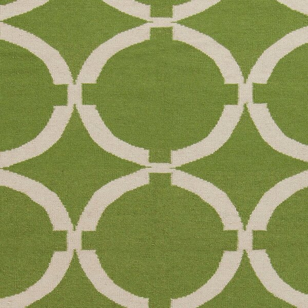Atkins Palm Green Geometric Area Rug by Charlton Home