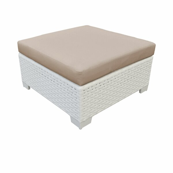 Burgoon Outdoor Ottoman with Cushion by Orren Ellis