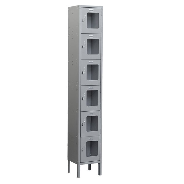 6 Tier 1 Wide Employee Locker By Salsbury Industries.