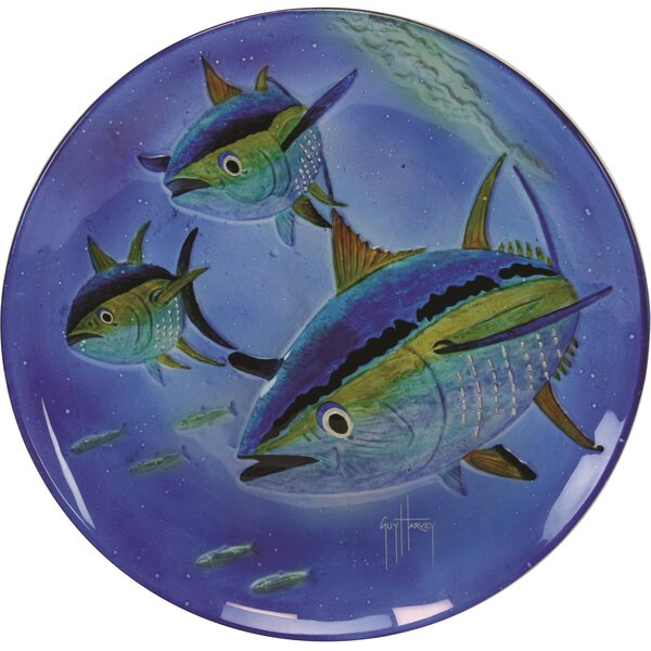 Guy Harvey Yellow Fin Tuna Glass Platter by River's Edge Products