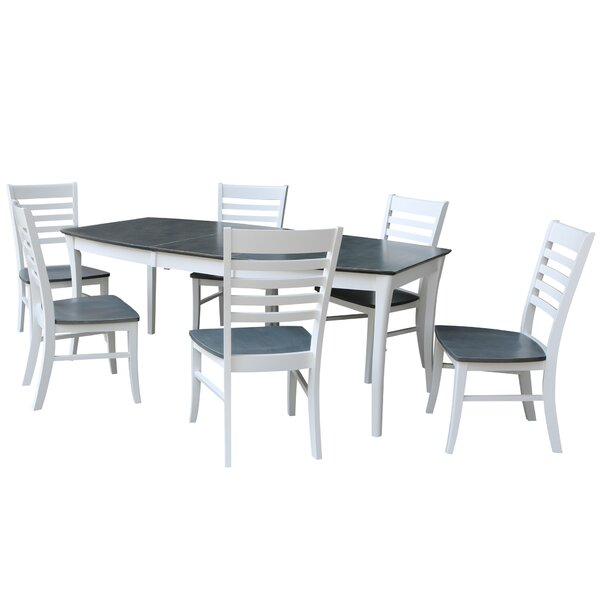 Find Rectangular 7 Piece Extendable Solid Wood Dining Set By Sedgewick Industries Comparison
