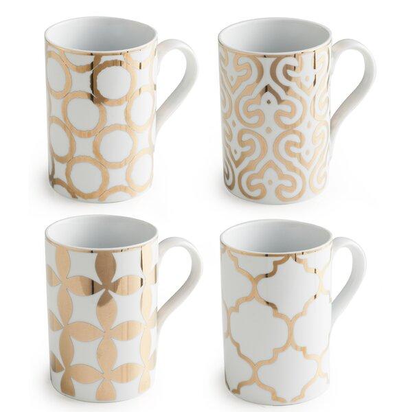 Luxe Moderne 11 oz. Mug Set (Set of 4) by Rosanna