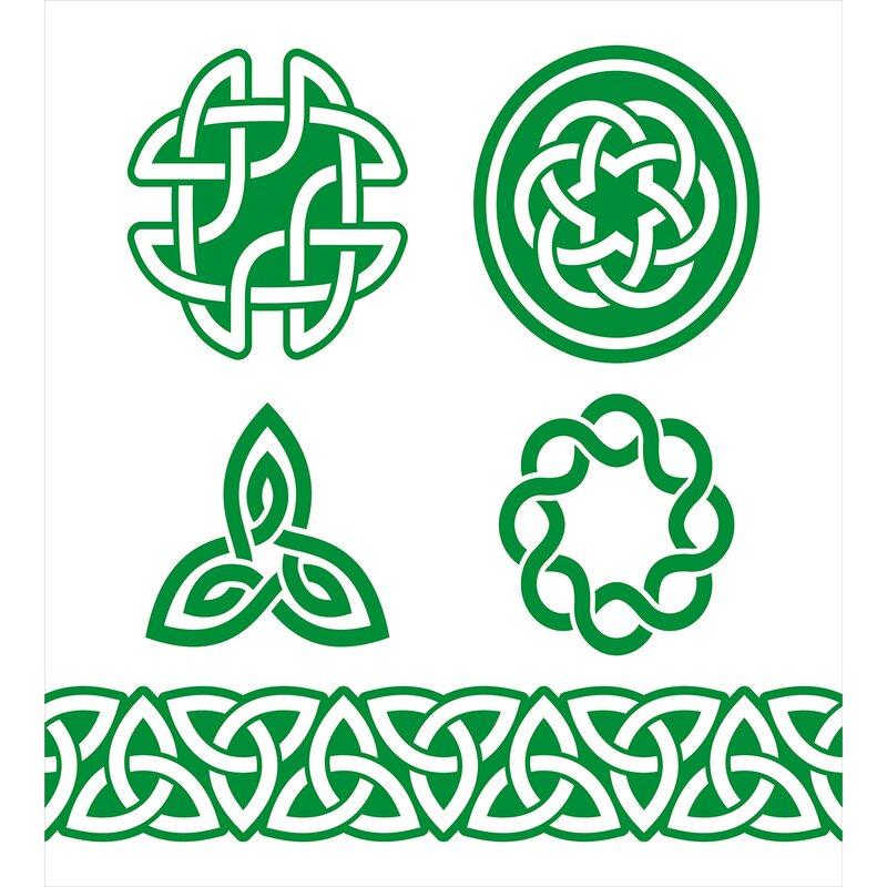 Ambesonne Irish Medieval Ancient Knots Symbols Braided Design